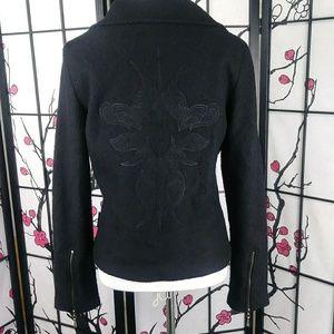 Harley-Davidson Jackets & Coats - Harley Davidson Wool Embroidered Moto Zip Jacket